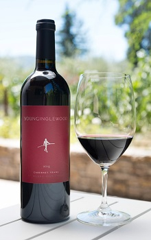 'Bottle of Young Inglewood Single Barrel Series Cabernet Franc'