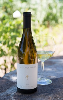 'Bottle of Young Inglewood Napa Valley Chardonnay'